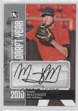 2011 In the Game Heroes and Prospects Draft Year Silver [Autographed] #DY-MMA - Manny Machado /39