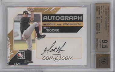 2011 In the Game Heroes and Prospects Full Body Autograph Silver #A-MM - Matt Moore /390 [BGS 9.5]