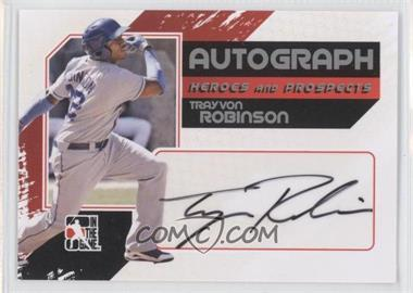 2011 In the Game Heroes and Prospects Full Body Autograph Silver #A-TRO - Trayvon Robinson /390