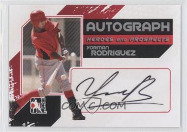 2011 In the Game Heroes and Prospects Full Body Autograph Silver #A-YR - Yorman Rodriguez /390