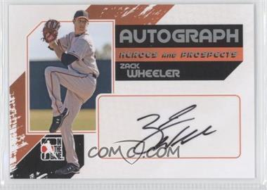 2011 In the Game Heroes and Prospects Full Body Autograph Silver #A-ZW - Zack Wheeler /390