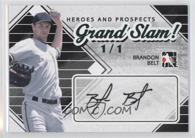 2011 In the Game Heroes and Prospects Grand Slam! Emerald #GS-BB - Brandon Belt /1