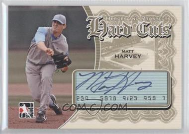 2011 In the Game Heroes and Prospects Hard Cuts Gold #HC-MH - Matt Harvey /1