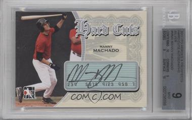 2011 In the Game Heroes and Prospects Hard Cuts Silver #HC-MMA - Manny Machado /24 [BGS 9]