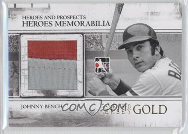 2011 In the Game Heroes and Prospects Heroes Memorabilia Jersey Gold #HM-12 - Johnny Bench /10