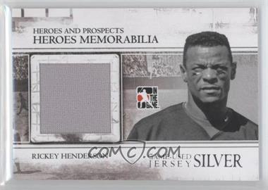 2011 In the Game Heroes and Prospects Heroes Memorabilia Jersey Silver #HM-26 - Rickey Henderson /160