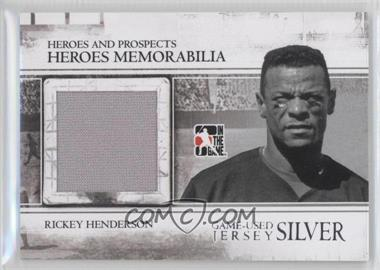 2011 In the Game Heroes and Prospects Heroes Memorabilia Jersey Silver #HM-26 - Rickey Henderson