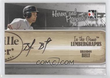 2011 In the Game Heroes and Prospects Lumbergraphs [Autographed] #L-BB - Brandon Belt