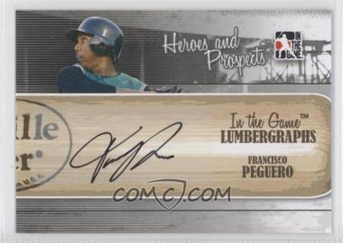 2011 In the Game Heroes and Prospects Lumbergraphs [Autographed] #L-FP - Francisco Peguero /100