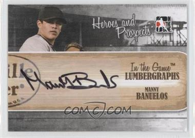 2011 In the Game Heroes and Prospects Lumbergraphs [Autographed] #L-MB - Manny Banuelos /100