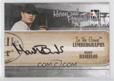 2011 In the Game Heroes and Prospects Lumbergraphs [Autographed] #L-MB - Manny Banuelos