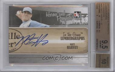 2011 In the Game Heroes and Prospects Lumbergraphs [Autographed] #L-MH - Matt Harvey /100 [BGS 9.5]