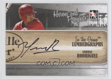 2011 In the Game Heroes and Prospects Lumbergraphs [Autographed] #L-YR - Yorman Rodriguez