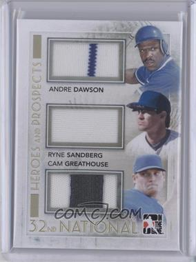 2011 In the Game Heroes and Prospects National Convention Baseball Redemption Memorabilia #HPBR-43 - Andre Dawson, Ryne Sandberg, Cam Greathouse