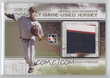 2011 In the Game Heroes and Prospects Prospect Game-Used Jersey Gold #PJ-17 - Zach Wheeler