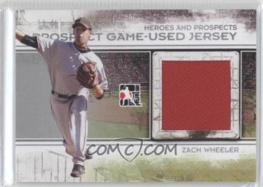 2011 In the Game Heroes and Prospects Prospect Game-Used Jersey Silver [Autographed] #PJ-17 - Zach Wheeler