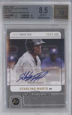 2011 Just Drafted Silver Autographs [Autographed] #JD25 - Starling Marte /100 [BGS 8.5]