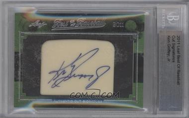 2011 Leaf Best of Baseball - Cut Signature Stone - Non-Numbered [Autographed] #KEGR - Ken Griffey Jr. [BGSAUTHENTIC]