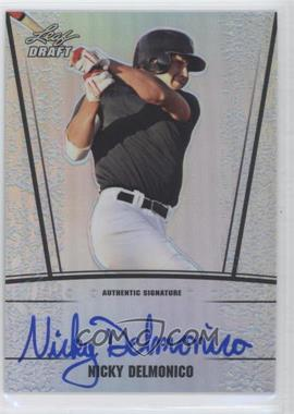 2011 Leaf Metal Draft Silver Prismatic #AU-ND1 - Nicholas Delmonico /99