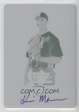2011 Leaf Valiant Printing Plate Cyan Autographed #VA-KM1 - Kevin Mattison /1