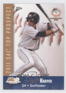 2011 MultiAd Sports South Atlantic League Top Prospects - [Base] #10 - Bryce Harper