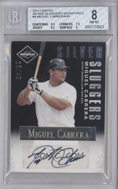 2011 Panini Limited - Silver Sluggers - Signature with Certified  [Autographed] [Memorabilia] #4 - Miguel Cabrera /49 [BGS8]
