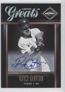 2011 Panini Limited Limited Greats Signatures [Autographed] #39 - Royce Clayton /499