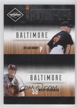 2011 Panini Limited Limited Match-Ups #6 - Dylan Bundy, Nicky Delmonico /199