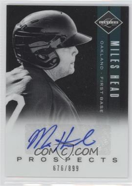 2011 Panini Limited Prospects Signatures [Autographed] #22 - Miles Head /899