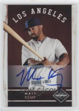 2011 Panini Limited Signatures #1 - Matt Kemp /49