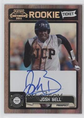 2011 Playoff Contenders - Rookie Tickets Signatures #RT23 - Josh Bell