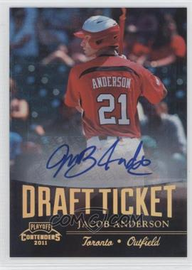 2011 Playoff Contenders Draft Tickets Signatures [Autographed] #DT39 - Jacob Anderson