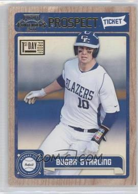 2011 Playoff Contenders Prospect Tickets First Day Proof #RT5 - Bubba Starling /10