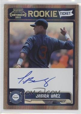 2011 Playoff Contenders Rookie Tickets Signatures #RT13 - Javier Baez