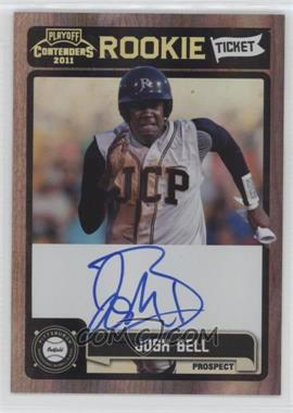 2011 Playoff Contenders Rookie Tickets Signatures #RT23 - Josh Bell
