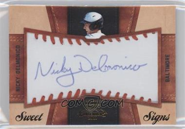 2011 Playoff Contenders Sweet Signs #10 - Nicky Delmonico /99