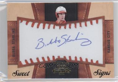 2011 Playoff Contenders Sweet Signs #25 - Bubba Starling /99