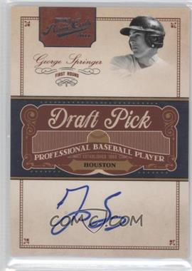 2011 Playoff Prime Cuts - Draft Pick Signatures #GS - George Springer /249