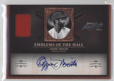 2011 Playoff Prime Cuts - Emblems of the Hall Materials - Signatures [Autographed] #18 - Ozzie Smith /20
