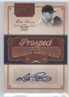 2011 Playoff Prime Cuts - Prospect Signatures #MB - Matt Barnes /299