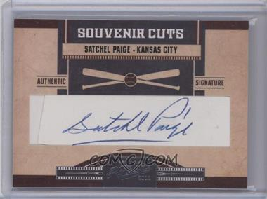 2011 Playoff Prime Cuts - Souvenir Cuts Cut Signatures #27 - Satchel Paige /1