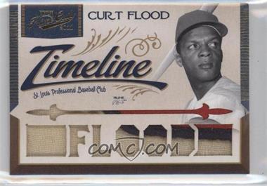 2011 Playoff Prime Cuts - Timeline Materials - Custom Die-Cut Player Name Prime #13 - Curt Flood /5