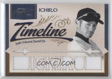 2011 Playoff Prime Cuts - Timeline Materials - Custom Die-Cut Player Name #23 - Ichiro /25