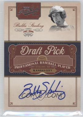2011 Playoff Prime Cuts Draft Pick Signatures #BST - Bubba Starling /249