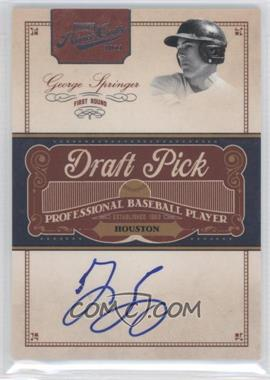 2011 Playoff Prime Cuts Draft Pick Signatures #GS - George Springer /249