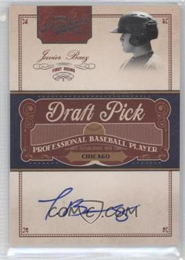 2011 Playoff Prime Cuts Draft Pick Signatures #JB - Javier Baez /249