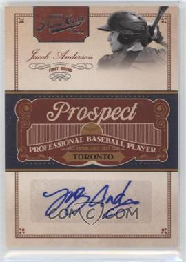 2011 Playoff Prime Cuts Prospect Signatures #JAN - Jacob Anderson /299