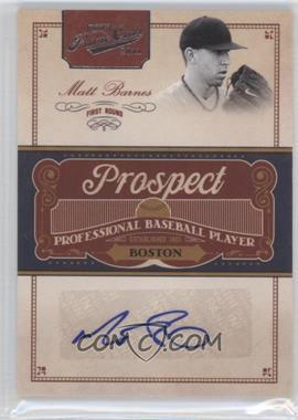 2011 Playoff Prime Cuts Prospect Signatures #MB - Matt Barnes /299