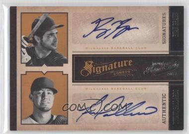 2011 Playoff Prime Cuts Signature Combos #4 - Yovani Gallardo, Ryan Braun /5