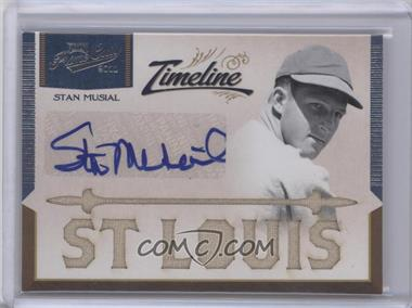 2011 Playoff Prime Cuts Timeline Materials Custom Die-Cut City Name Signatures [Autographed] #6 - Stan Musial /5